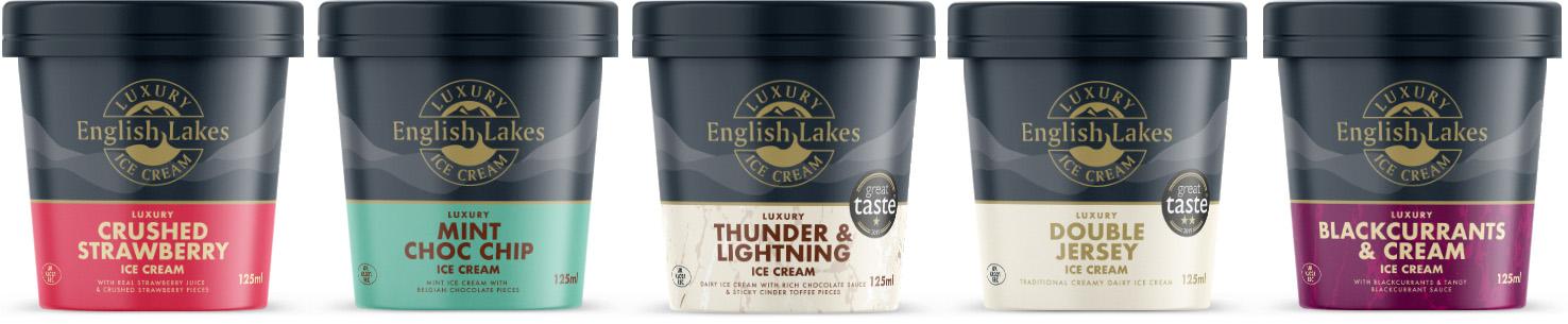 English Lakes Ice Cream 125ml Pots