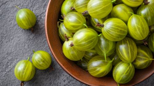 Gooseberries for our Gooseberry Sorbet