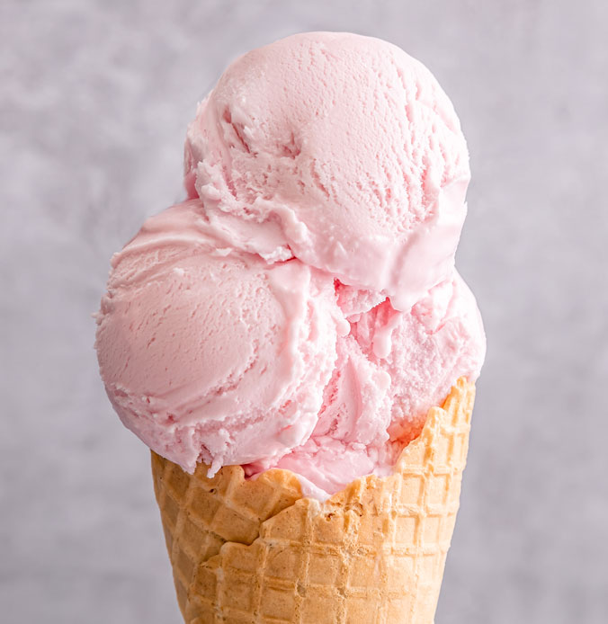 Lakes Ice Cream Classic Strawberry Flavour