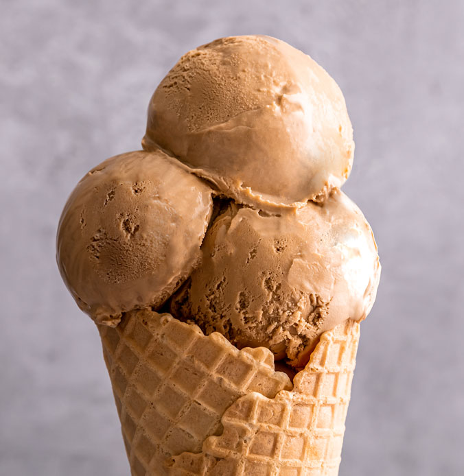 Lakes Ice Cream Made Biscoff Flavour